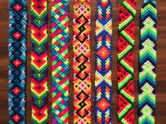 Friendship Bracelet Woven Braided Knoted Jewelry Handmade Best Friend Gift Pattern Native Ornament Rainbow