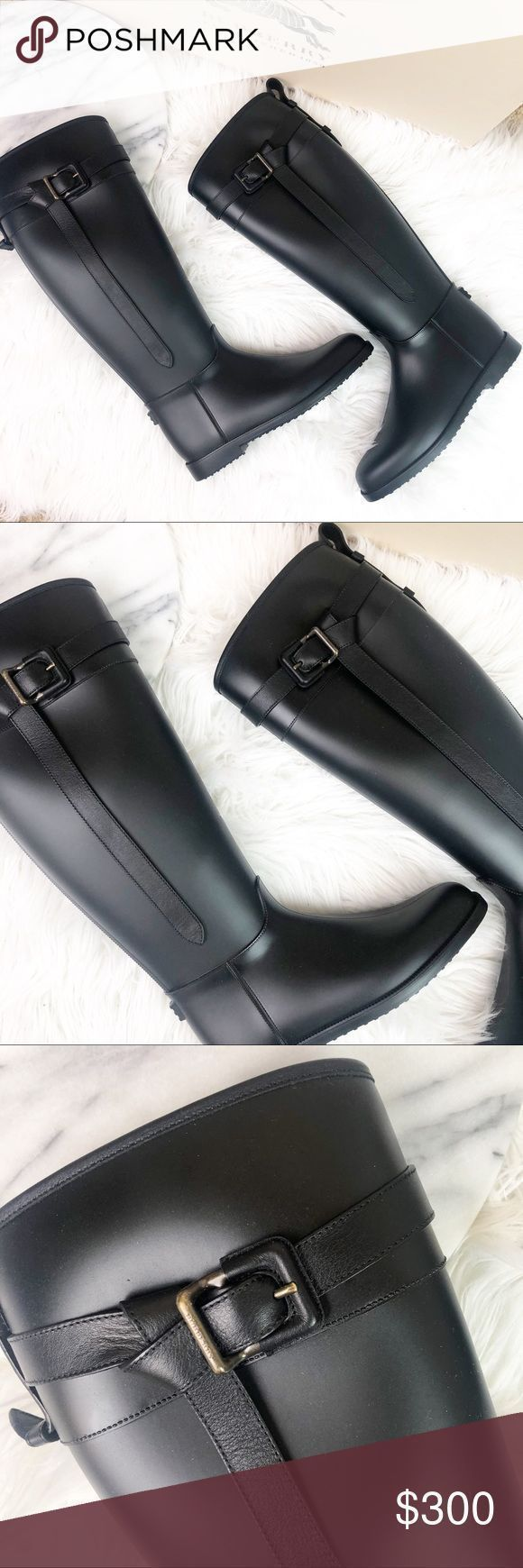 #AestheticButtockSurgical-Burberry Matte Rubber hohe Stiefel ⦁ Eigenschaften: …