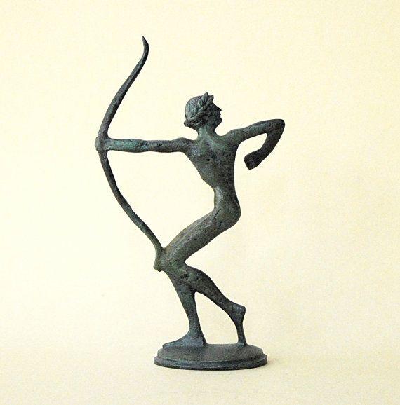 Bronze Statue  Archer Athlete Ancient Greek by GreekMythos on Etsy, $123.00