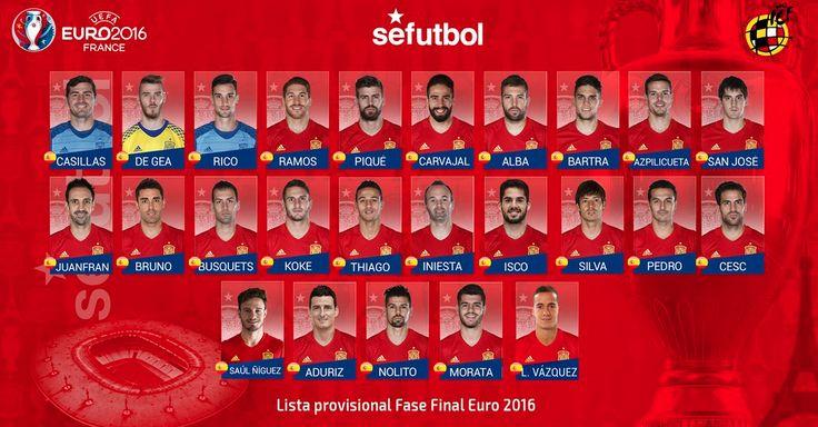 """Del Bosque: """"No és una llista per agradar a tothom. Hem buscat el que creiem que és més útil"""" #Casillas #DeGea #SergioRico #Ramos #Piqué #Carvajal #JordiAlba #Bartra #Azpilicueta #SanJosé #Juanfran #Bruno #Busquets #Koke #Thiago #Iniesta #Isco #Silva #Saúl #Cesc #Pedro #Aduriz #Nolito #Morata #LucasVázquez"""