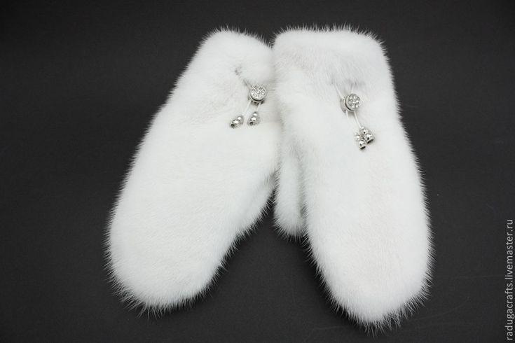 Купить Варежки для Снежной королевы - белый, зима, варежки, рукавички, меховые варежки, Норка, мех