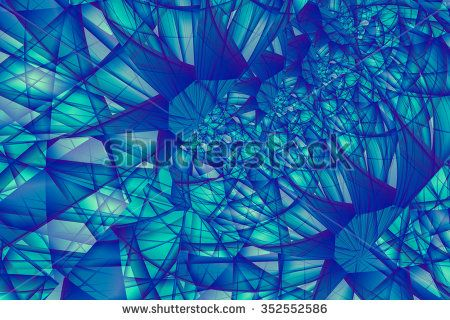 Colorful Fractal Background - stock photo