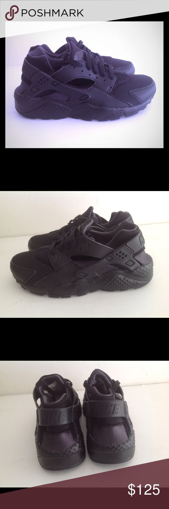 Nike Huarache Run Black Anthracite Brand new with box size 5y,6y women size 6.5, 7 No trades Nike Shoes Sneakers
