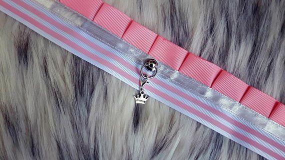 Kitten play Collar / Bdsm Chocker / pet play / pink princess /
