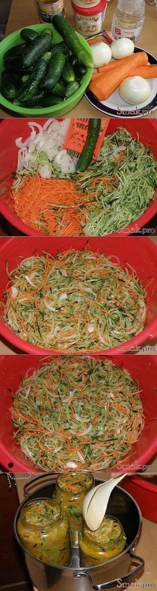 Салат из огурцов по корейски рецепт с фото » Smak.pro - Кулинарные фото рецепты у нас - СМАКУЕМ!