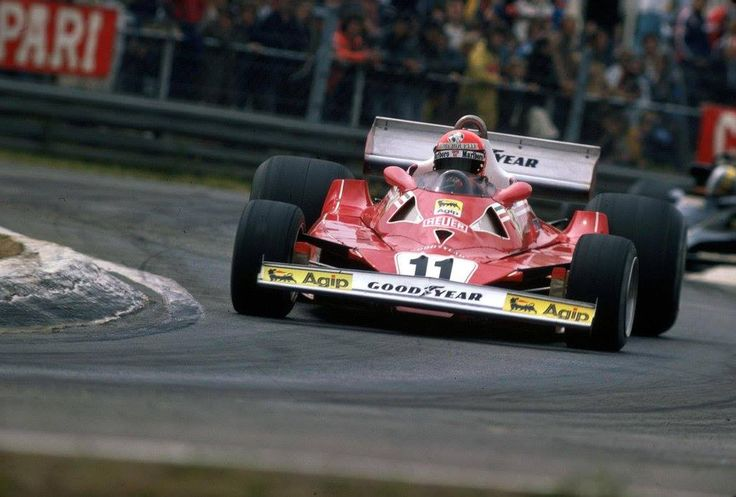 Niki Lauda (Ferrari) Grand Prix de Belgique - Zolder 1977 - source F1 History & Legends.