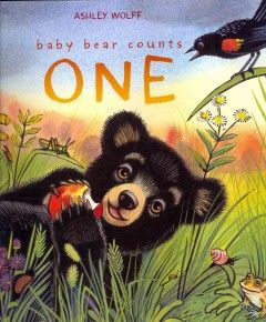 Before curling up with his mother in their cozy den, Baby Bear counts other animals preparing for winter. Written and illustrated by Ashley Wolff.