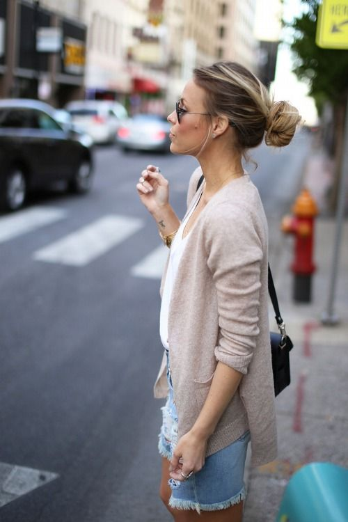 Cashmere Cardigan...this is one knit that can be worn all year long, any season. Light, airy & beautiful. Love this look & feel.