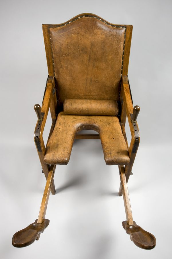 Antique Birthing Chair (as Seen In Call The Midwife) Thank God For Modern  Medicine