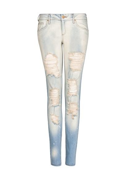 MANGO - Distressed super slim jeans