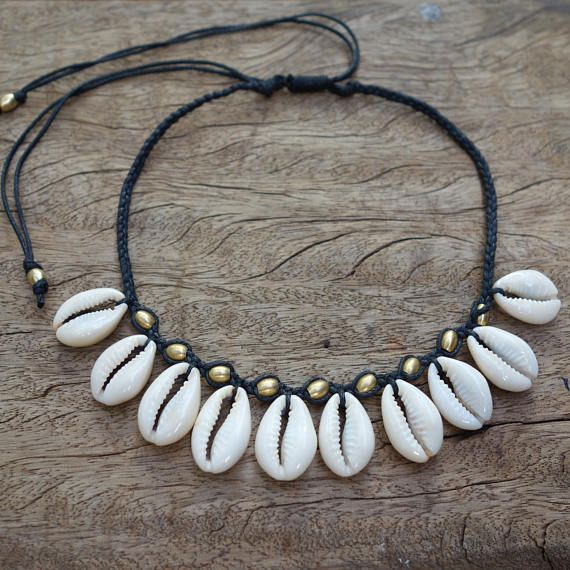 6da40c85e3880 Cowrie Shell Choker Necklace, Sea Shell Necklace, Cowrie Shell ...