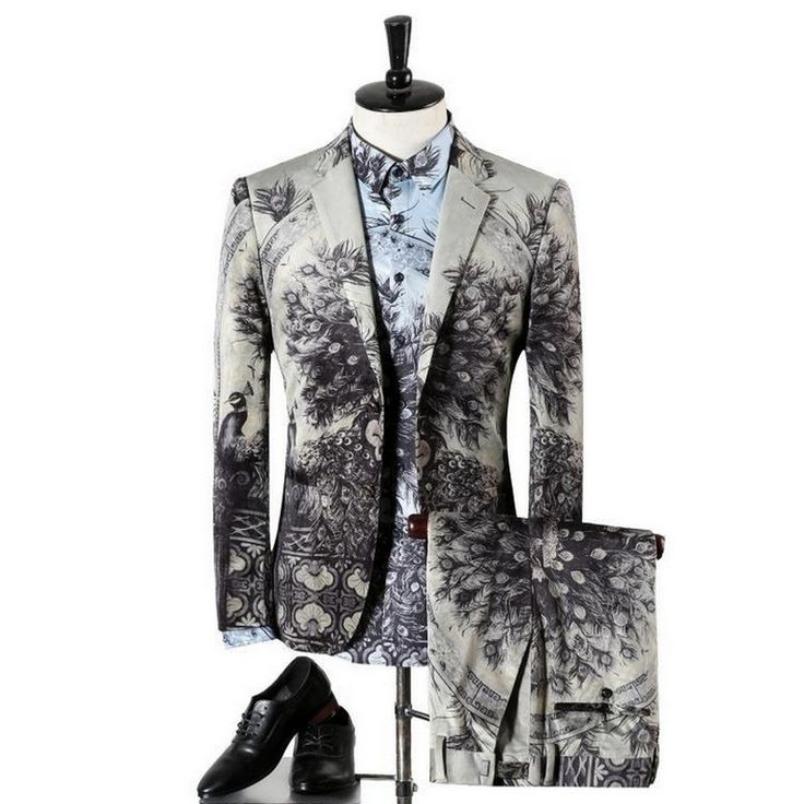 Aliexpress.com : Buy Three Piece Print Fancy Party Men's Suit Italy New Popular Notch Lapel Plus Size European Suits for Men Classic Design Blazers from Reliable suits line suppliers on oscn7 Store