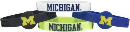 Michigan Wolverines Bracelets - 4 Pack Silicone