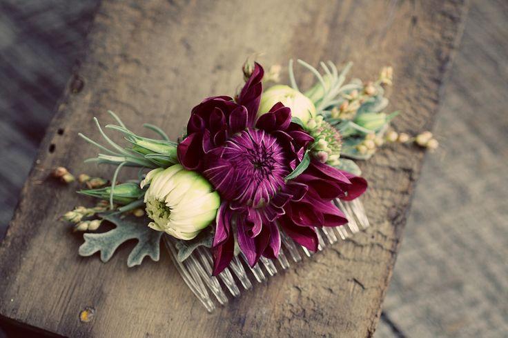 Haarschmuck mit echten Blumen #Hochzeit #Wedding #Haarschmuck