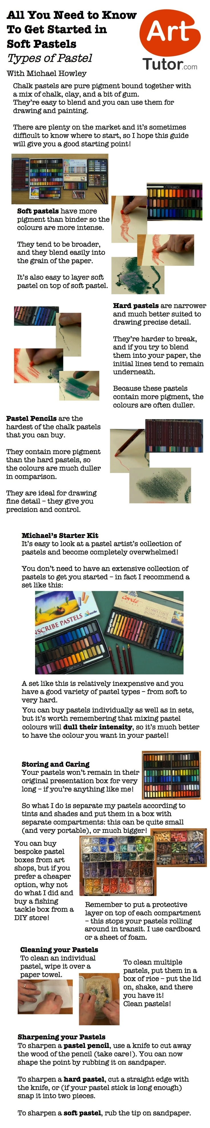 Ever wanted to paint with soft pastels? If so this guide will give you all the information you need to get you started. Taken from Michael Howley's Soft Pastels Foundation Course on ArtTutor.com #pastelpainting