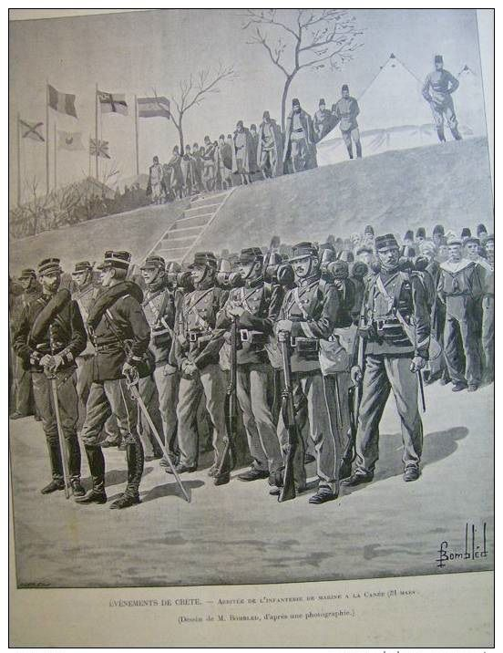 French marines arriving in Canea 1897