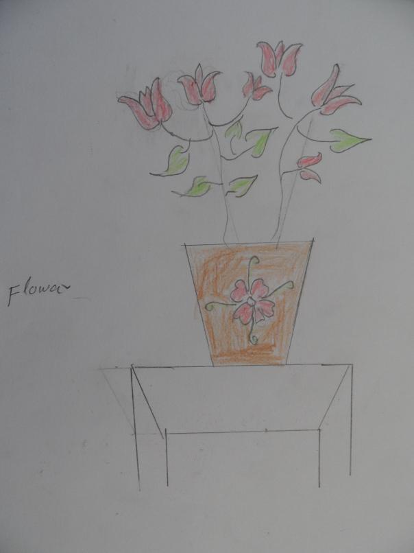 Sayeda Mohammad Omar, táto slečna má 11 rokov,názov obrázka -  Kvet