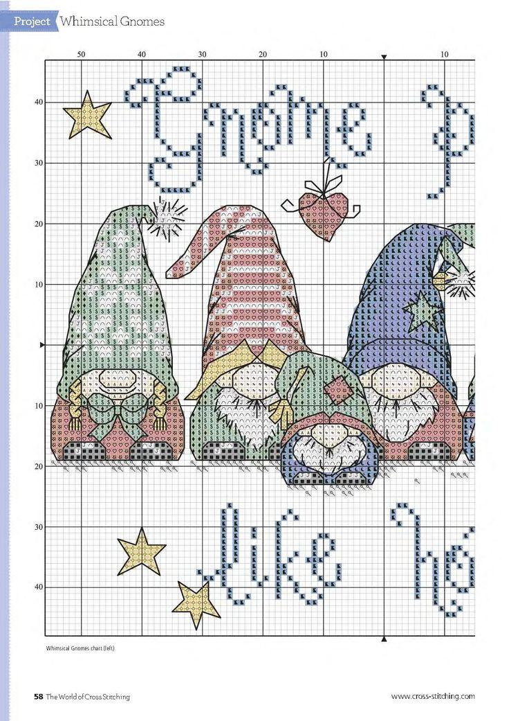 #gnomes #CrossStitich #chart1