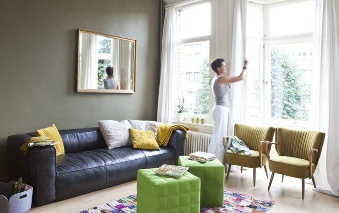 woonkamer : kleur muur   bij colora