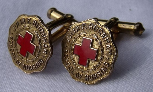 Julia F. Burnham School of Nursing Cuff-links - Champaign, IL.