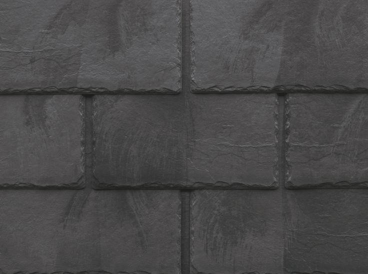 Inspire Synthetic Slate Shingles   Classic Slate   Grey Black Blend