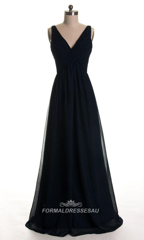 Flowy Chiffon Formal Dresses With V Neck Fda0102 Wedding