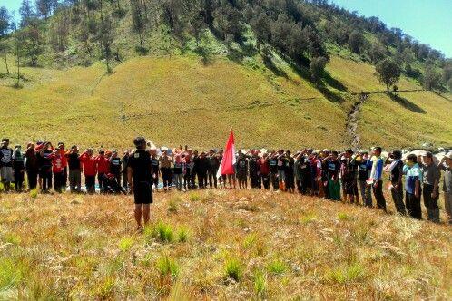 Upacara kemerdekaan Indonesia Augst, 17th 2013 #SemeruMt