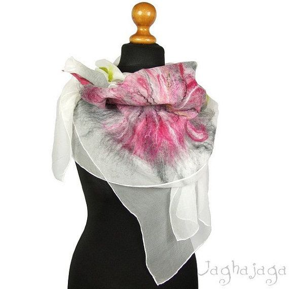 New! Pink flower, wedding shawl, beautiful and unique gift for her, amasing handmade work, statement gift, gift for friend, gift for girl