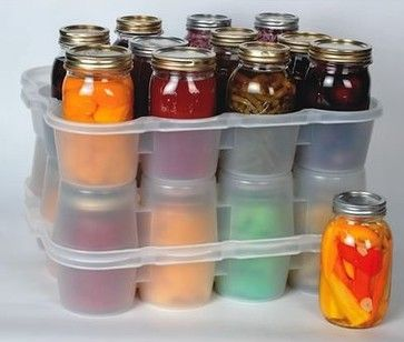 Canning Jar Storage Boxes - contemporary - food containers and storage - Lehmans