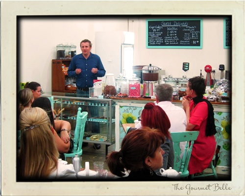 Chocolate tasting with The Gourmet Belle at Monty's Chocolates in Brisbane.