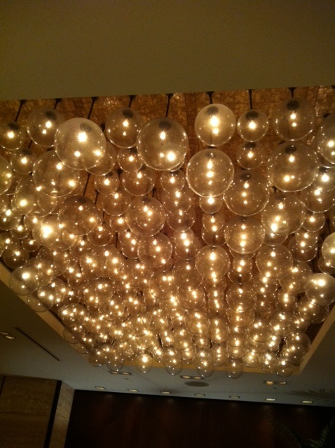 Ceiling of lights.....