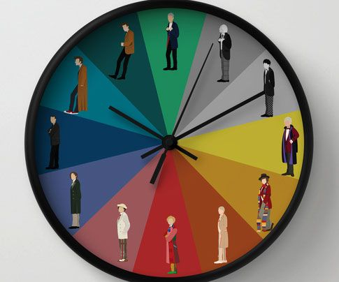 Let your favorite Time Lord tell you what time of the day it is with the Doctor Who wall clock. The creative design displays all twelve of Doctors portrayed on the iconic Sci-Fi series since its original start in the 1960s - making it the ultimate gift for any Whovian.