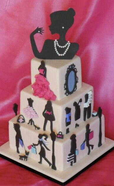 Fashion cake- Looks like Audrey Hepburn on the top. Katelyn would love this for her bday. :)