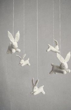 Baby Crib Mobile, Bunnies by Patricija - contemporary - mobiles - Etsy