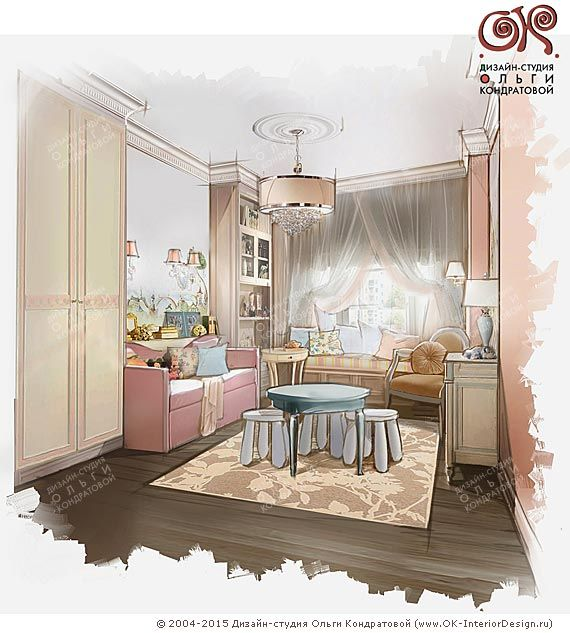 Дизайн детской комнаты для маленького ребенка  http://www.ok-interiordesign.ru/ph_dizain-detskoy-komnaty.php
