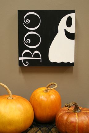 Boo canvas!                                                                                                                                                                                 More