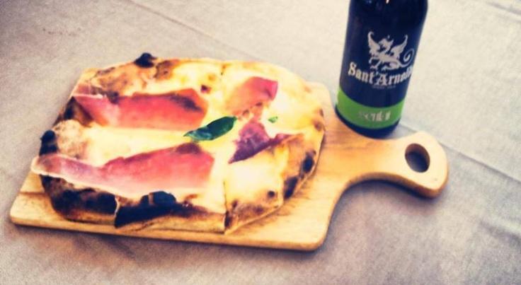#pizza con #sauris #marechiaro #casale #marechiaromenu con #birra #artigianale #Santarnoldo