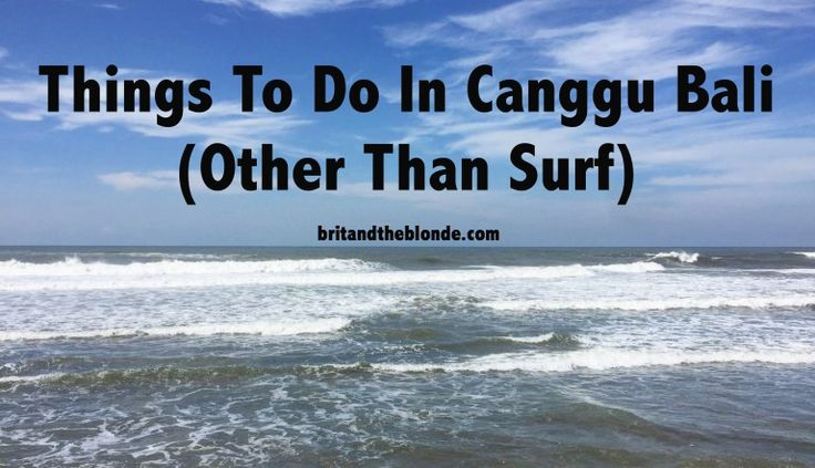 For all you Bali bums, check out your ultimate guide to Canggu at britandtheblonde.com