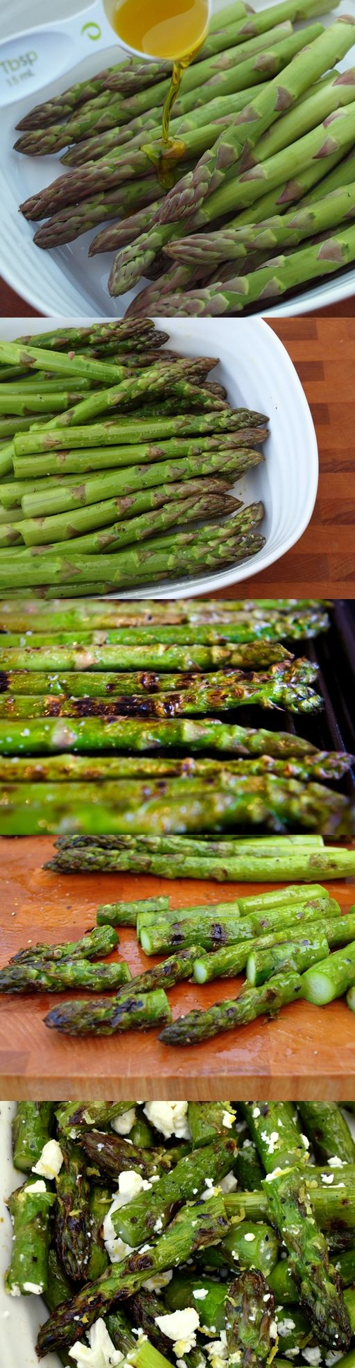 Grilled Asparagus and Feta Salad (a great Thanksgiving Side idea)