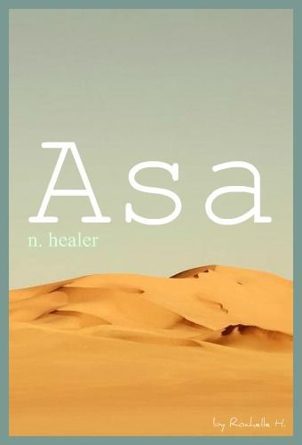 Baby Boy Name: Asa. Meaning: Healer. Origin: Hebrew; Irish; English. http://www.pinterest.com/vintagedaydream/baby-names/