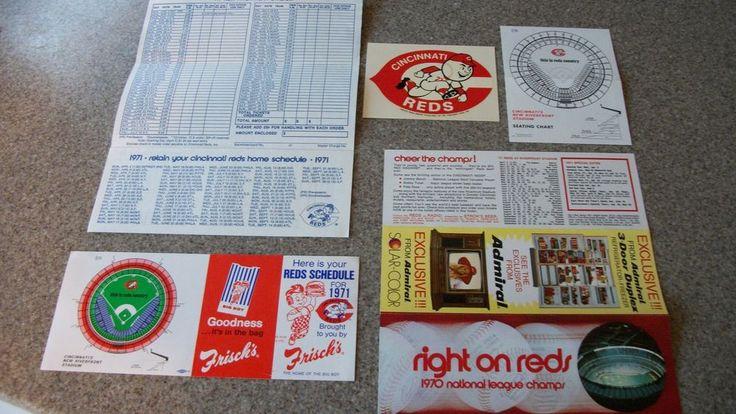 1971 Cincinnati Reds Schedules, Seating Charts, Ticket Application, Sticker