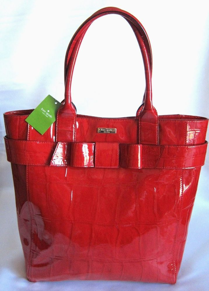 Kate Spade James Knightsbridge Shiny Patent Leather Red Large Tote Bag Nwt 478 Katespade Shoulderbag For Misty And The Twins Pinterest Carteras