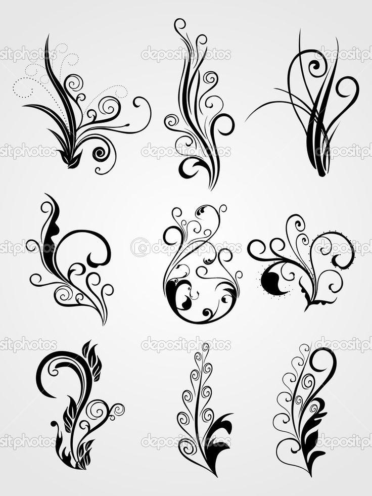 Achtergrond met artistieke bloem ontwerp tatoeages