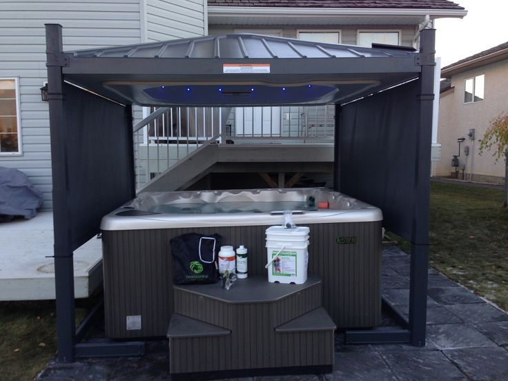 Beachcomber Hot Tub model 720 installed with a Covana