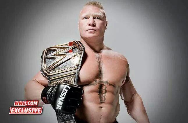 Brock Lesnar WWE World Heavyweight Champion