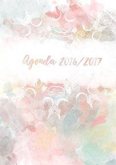 Portada modelo 1 de la agenda 2016/2017 para descargar totalmente gratis.  http://asweetwinter.blogspot.com