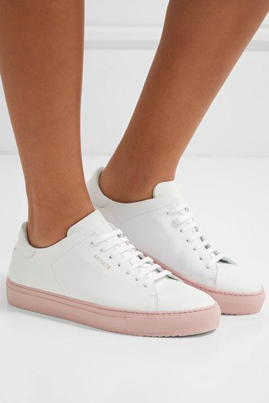 Rubber sole measures approximately 30mm/ 1 inch White leather Lace-up front Imported