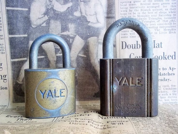 Two Yale Locks. Old Vintage Locks. Without Keys. Nice Patina. Artistic, Craft, Home Décor, Repurpose, Collector Locks. by ThrowItForward on Etsy