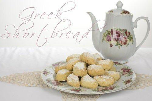 Greek Almond Shortbread Cookies