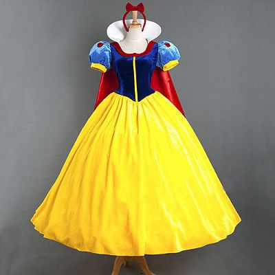 Deluex #adult snow white princess fairytale costume #halloween #party ball gown ,  View more on the LINK: 	http://www.zeppy.io/product/gb/2/262479049578/